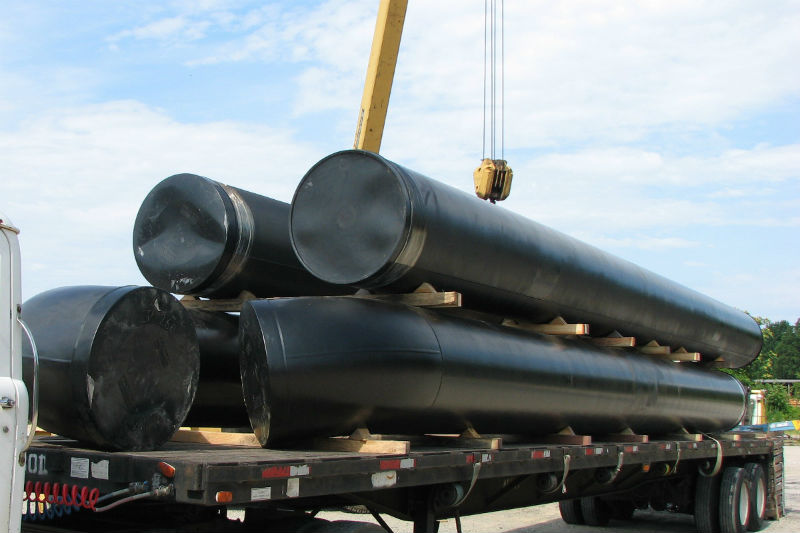 Coal Tar Pipe : Pipe protected by coal tar epoxy