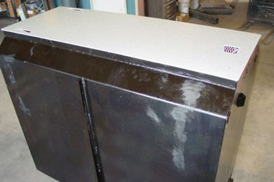 Storm Shelter Coated With Coal Tar Epoxy