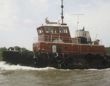Tug Boat Coated With Coal Tar Epoxy
