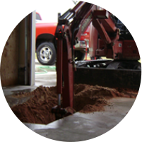 Digging up garage interior