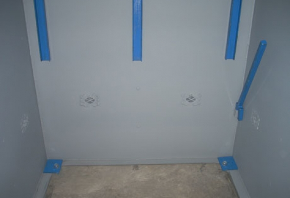Shielded ventilation ports dispersed throughout the Tornado Tech Shelter supplies significant oxygen and pressure exchange capability.