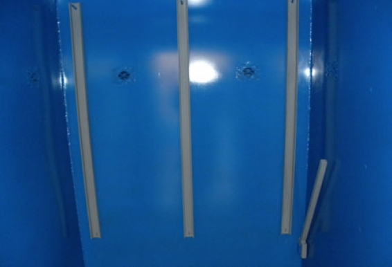 Removable locking bars in the Tornado Tech Shelter prevent the need for complex and easily defeated locking hardware.