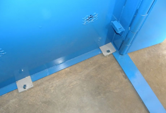 All four corners are reinforced with anchor tabs in every Tornado Tech Shelter, and depending on size, additional anchoring tabs may be used.
