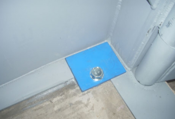 "Tornado Tech Shelter's base plate is 6"" wide, creating more surface area for the concurrent anchoring methods."