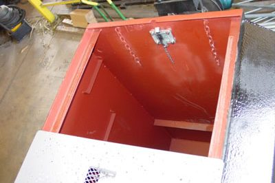 epoxy coated storm shelter