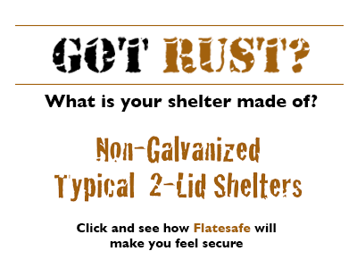 hot dip galvanized - rust free below ground storm shelters