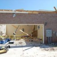Mustang garage tornado shelter