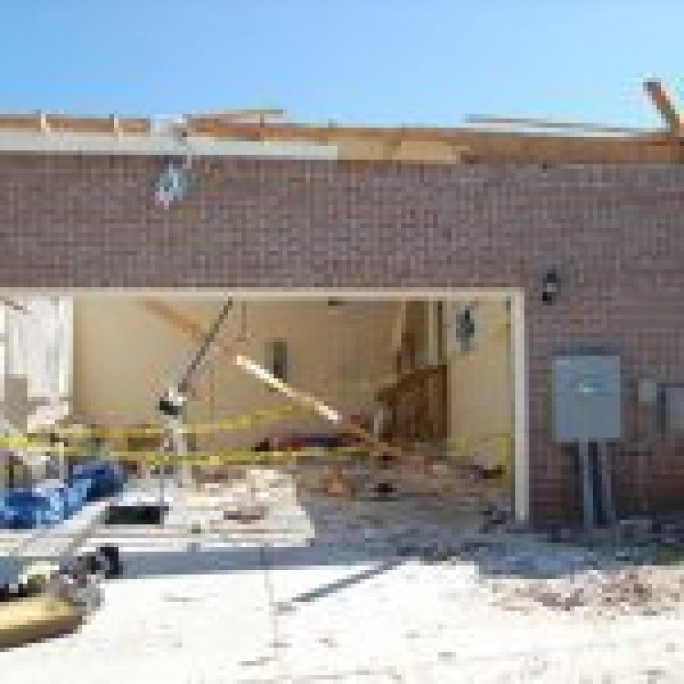 Noble garage tornado shelter