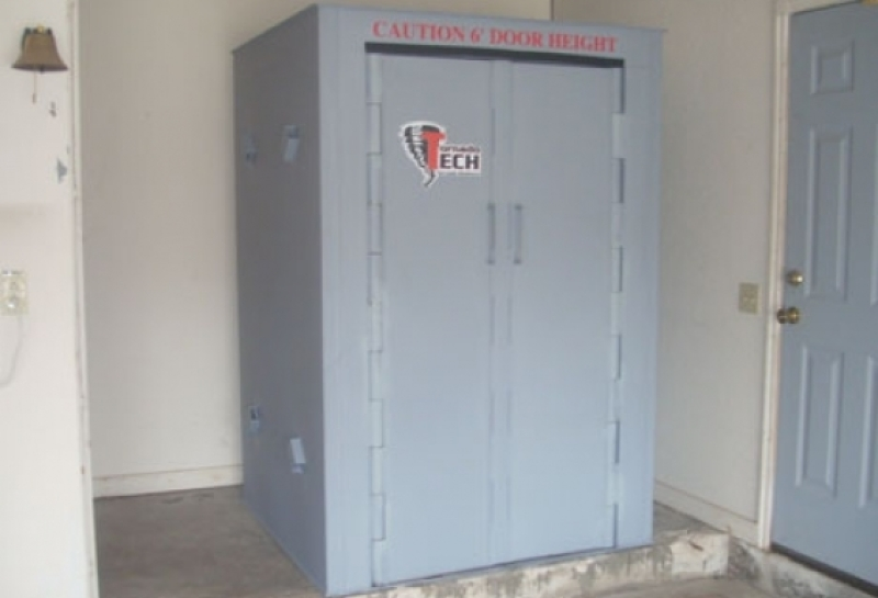 The continuous (top to bottom) hinged doors on the Tornado Safe Room provides substantial durability, and distributes the energy of an impact evenly, without compromising the doors ability to function.