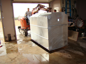 The continuous (top to bottom) hinged doors on the Tornado Tech Shelter provides substantial durability, and distributes the energy of an impact evenly, without compromising the doors ability to function.